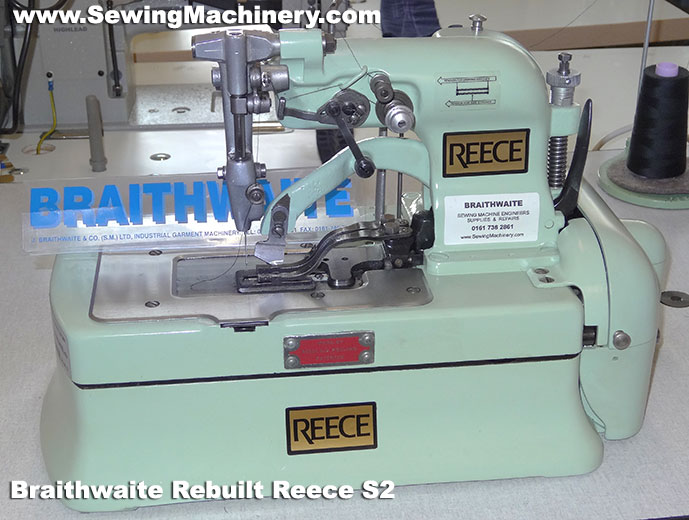 Reece 40 Reece S40 Buttonhole Sewing Machines Simple Braithwaite Industrial Sewing Machines